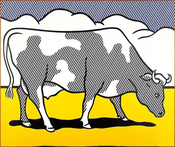 Cow Triptych (Cow Going